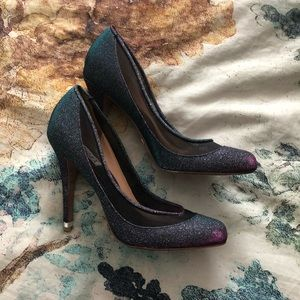 Badgley Mischka Cinderella heels